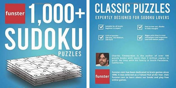 Funster 1,000+ Sudoku Puzzles Easy to Hard: Sudoku puzzle book for adults de Charles Timmerman (fundador de Funster)